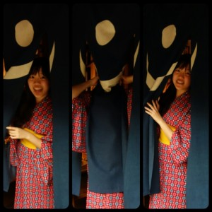 4b. The curtain monster