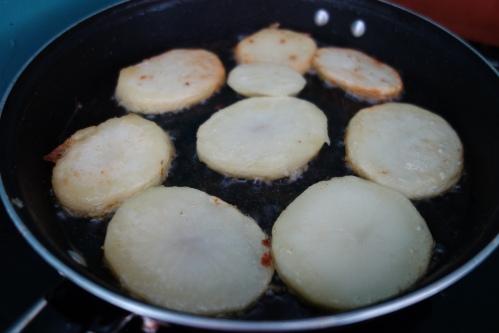 Fries frying