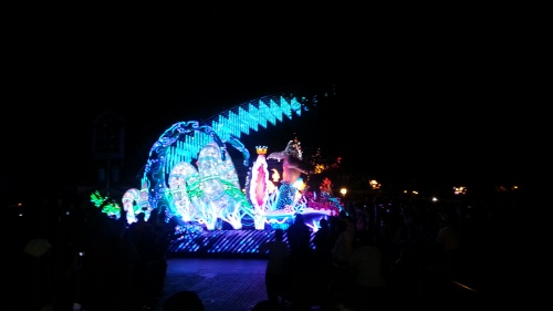 The little mermaid and her dad~ all lighted up!