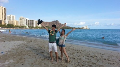 We went to Waikiki Beach in Honolulu, Hawaii!