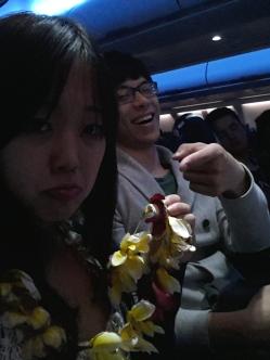 Unfortunately, the Lei didn't last the 5h flight to LA