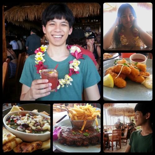 eating in Honolulu Dukes