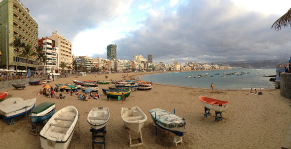 This is Las Canteras on a bad weather day