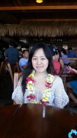 Mimi with Lei