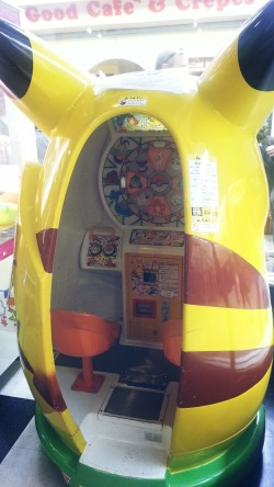 Pikachu game for kids at the Japantown arcade