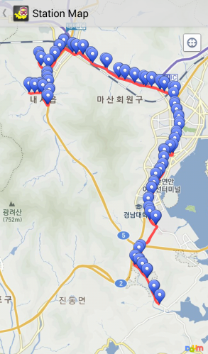 Route map example