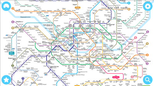 Subway Lines in Seoul take you almost everywhere (may'15)