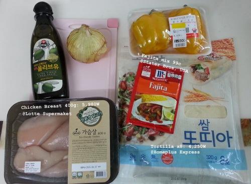 01. Chicken Fajitas Ingredients