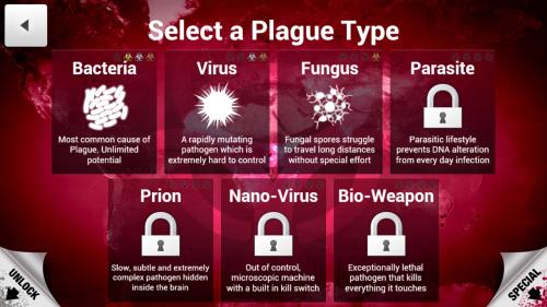 01. Select a Plague Type