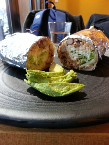 Great and fulfilling burrito. Both chicken and chorizo were equally good!