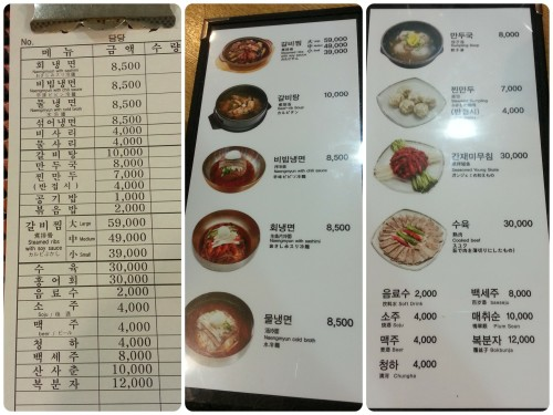 The menu~ they also have a picture image, that they handed to us when they heard us speaking in English
