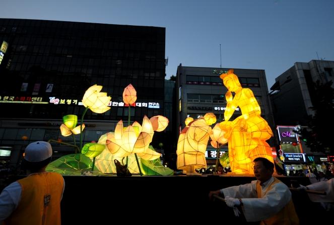 Lantern parade lotus