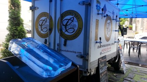 The beer truck and the ice for shots