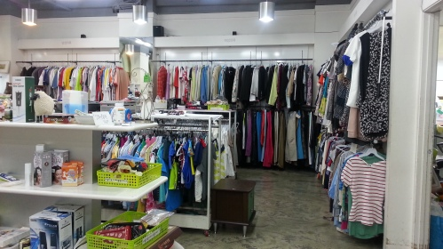 Clothes section. Most are for women, but there's also some selection for men and children