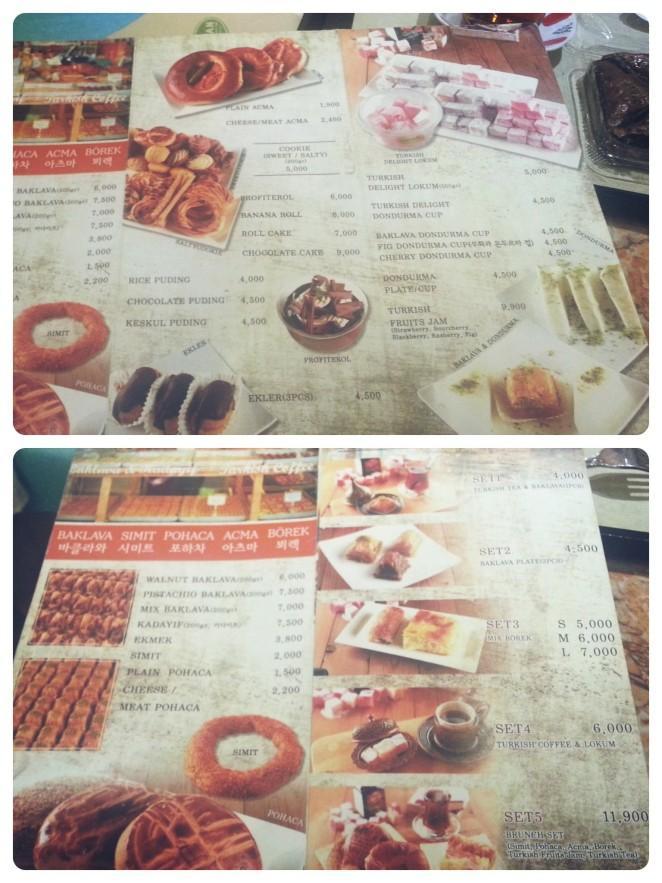 kervan menus