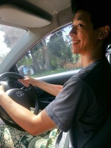 Vic driving back to Chiang Mai