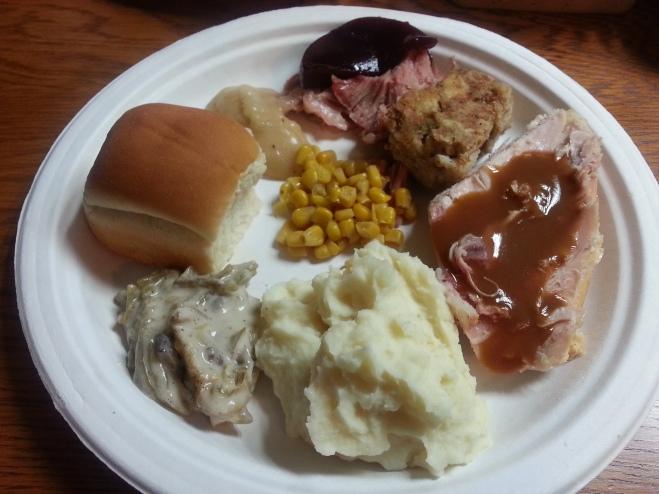 My beautiful Thanksgiving plate